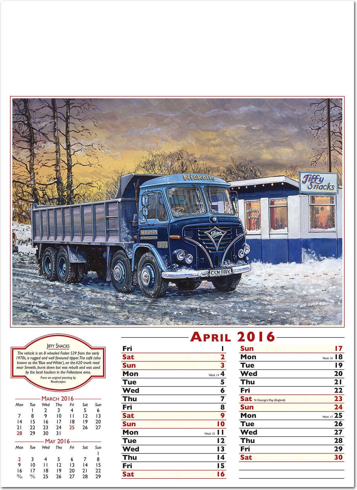 Times Past Calendar 2016 - Rose Calendars
